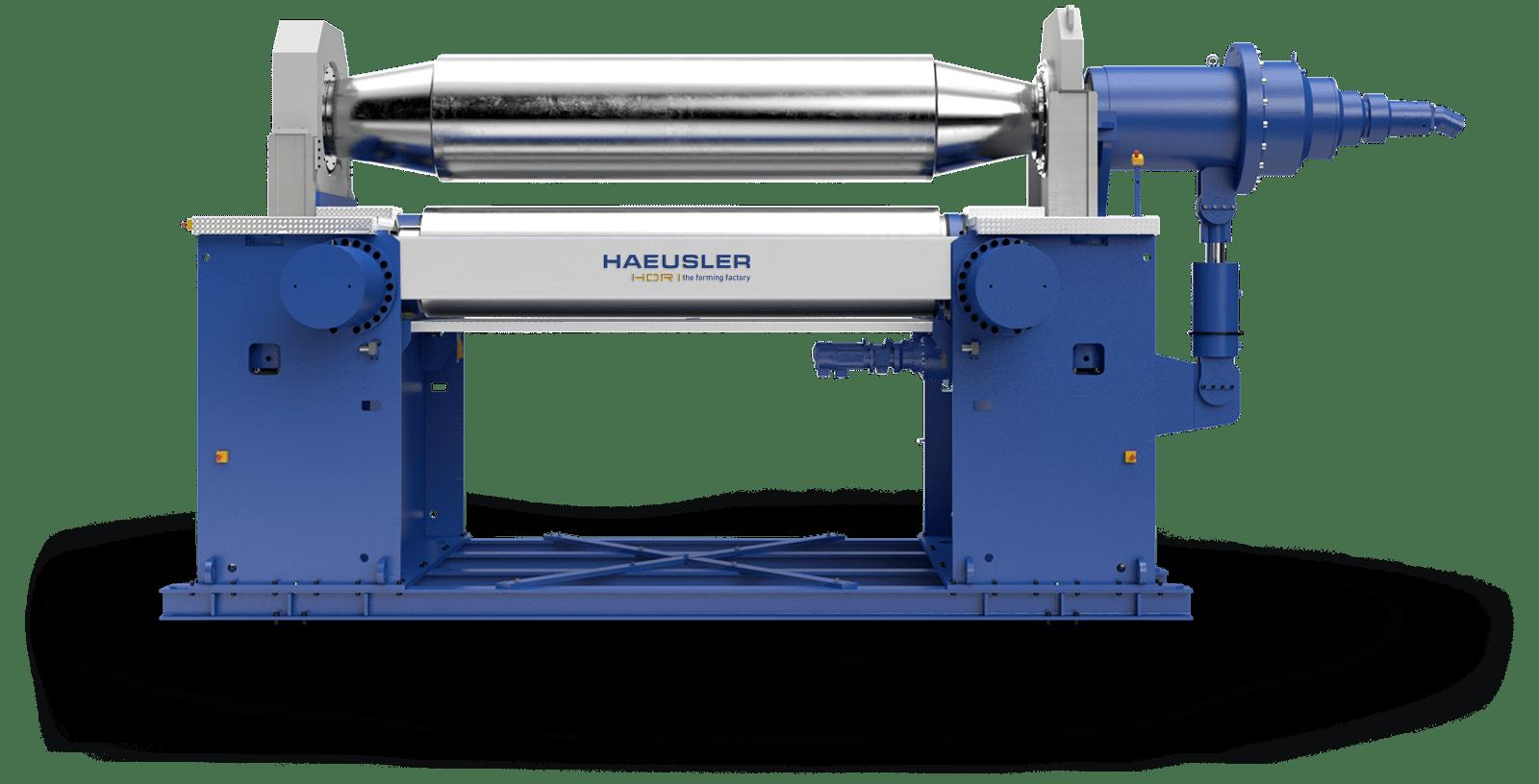 Walzenbiegemaschine HAEUSLER HDR - Frontansicht